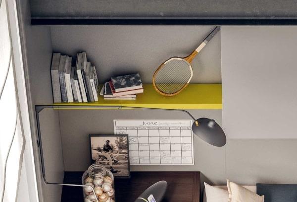 Mensola colorata gialla per cameretta Start