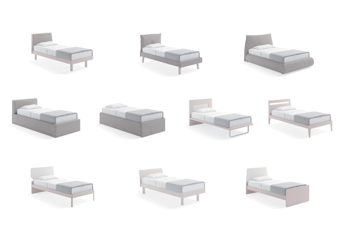 Modelli di letto piazza e mezza