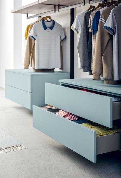 Cassetti per organizzare l'armadio o la cabina armadio