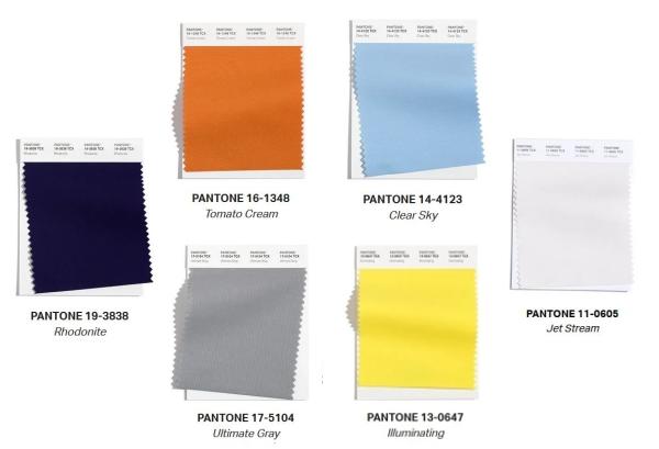 Palette di colori Pantone per una camera da adolescenti