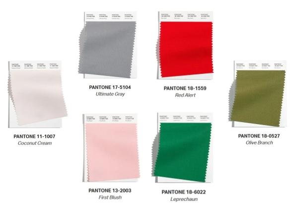 Palette di colori Pantone per la camera dei bambini
