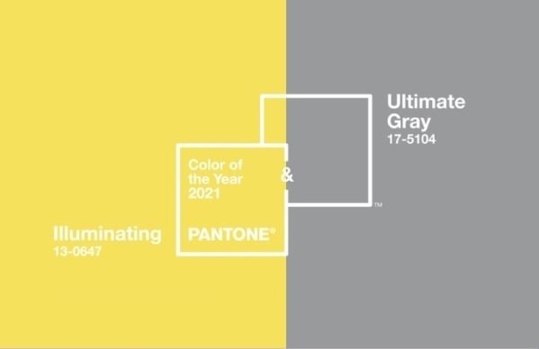 Locandina ufficiale Pantone Colors of The Year 2021