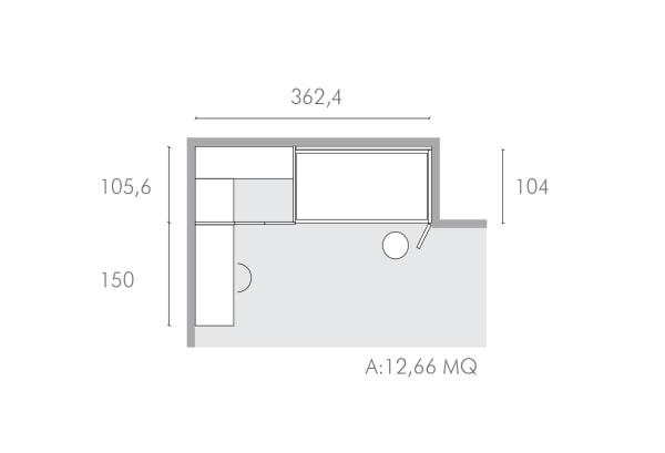 Soluzione d'arredo per una camera di 12 mq da ragazza