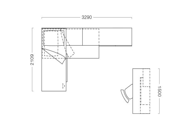 Soluzione per arredare una camera da ragazza completa con soppalco