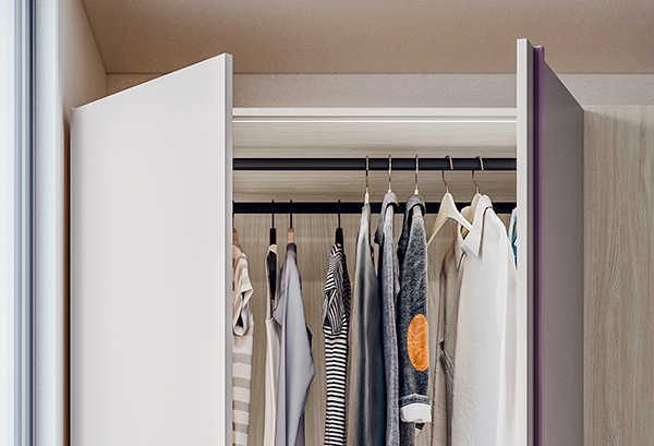 Wardrobe doors with 6 soft close hinges